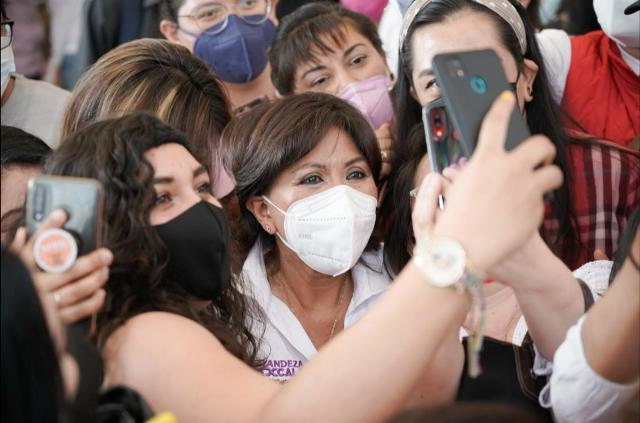 A tan solo tres días del debate, Anabell Ávalos da a conocer sus compromisos de salud. Imágenes CMR.